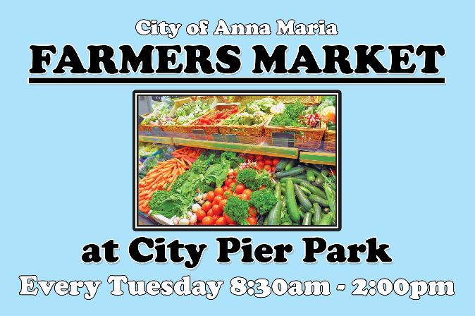 Farmers Market at City Pier Park, Tuesdays 8:30 a.m. to 2:00 p.m.