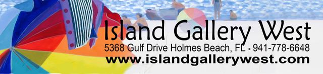 Island Gallery West, 5368 Gulf Drive, Holmes Beach, FL. Phone 941 778 6648. island gallery west dot com.