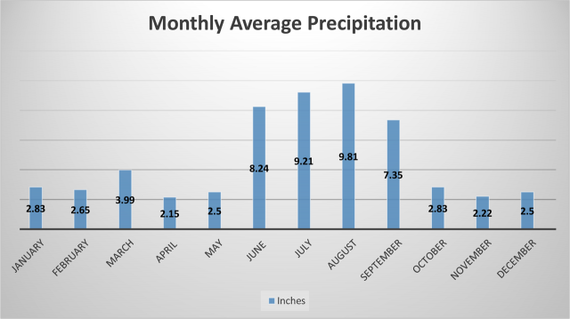 Monthly Average Precipitation
